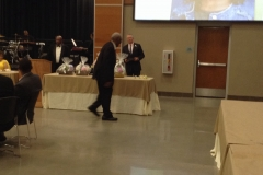 Mr. Goldston on his Way to receive the Becoming One Award