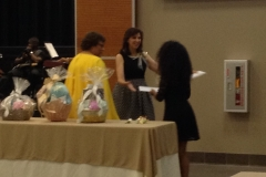Mackenzie Parker Greeted by Mrs. Sandra Reddick and Dr. Bernice Duesler