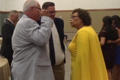 Mrs. Sandra Reddick Listens Attentively